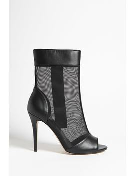 Mesh Open Toe Booties by Forever 21