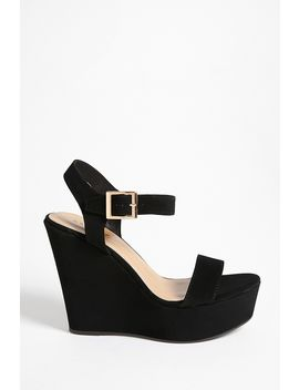Buckle Strap Wedge Sandals by Forever 21