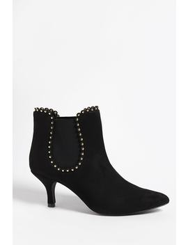 Privileged Shoes Faux Suede Studded Ankle Boots by Forever 21