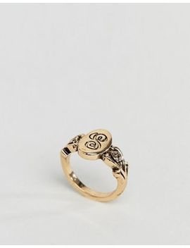 Asos Design Ornate Monogram 's' Initial Ring by Asos Design