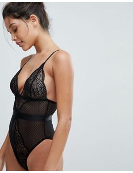 Wolf &Amp; Whistle Black Lace Mix Body by Wolf & Whistle