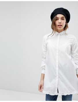 Only Long Shirt With Ruffle Hem by Only