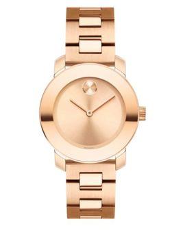 Bold Rose Goldtone Ip Stainless Steel Bracelet Watch by Movado Bold