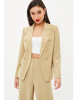 Camel Military Blazer by Missguided