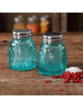The Pioneer Woman Glass Salt And Pepper Shakers, Teal by The Pioneer Woman