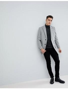 Burton Menswear Overcoat In Light Grey by Burton Menswear London
