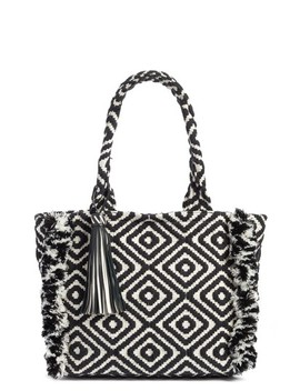 Fringed Woven Tote by Rebecca Minkoff