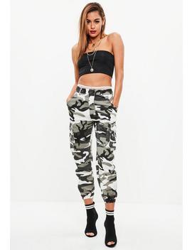 Tall Grey Camo Trousers by Missguided