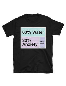 Water Anxiety Human Percent Aesthetic   Unisex T Shirt by Etsy