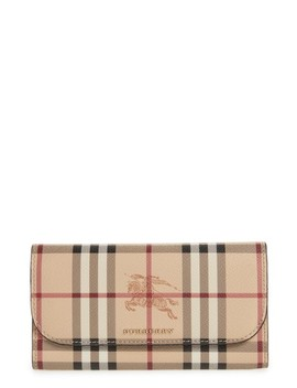 Harris Check Faux Leather Wallet by Burberry