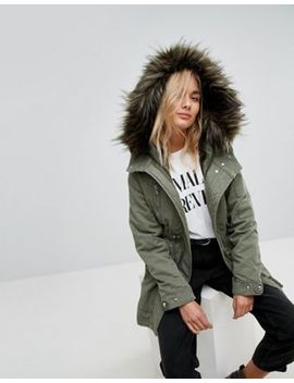Bershka Traditional Parka Coat by Bershka