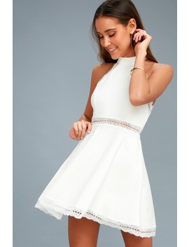 Reach Out My Hand White Lace Skater Dress by Lulus