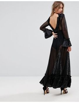 Asos All Over Lace Sheer Maxi Dress by Asos Collection