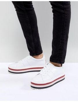 stradivarius-contrast-stripe-flatforms-sneaker by stradivarius