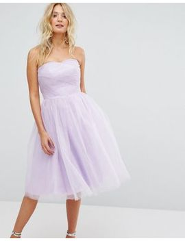 Hell Bunny Bandeau Tulle Dress by Evening Dress