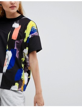 Asos Made In Kenya Oversized T Shirt With Painterly Printed Panel by Asos Made In Kenya