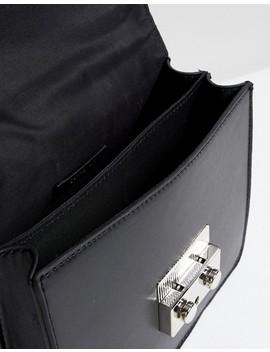 Bershka Chain Strap Mini Satchel Bag In Black by Bershka
