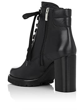Lug Sole Leather Ankle Boots by Barneys New York