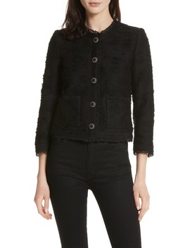 Lace Trim Boxy Jacket by The Kooples