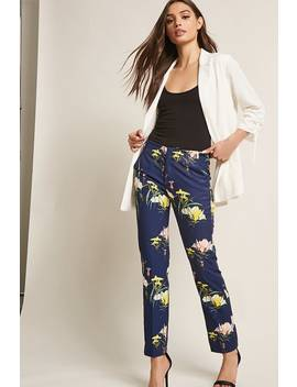 Satin Floral Pants by Forever 21