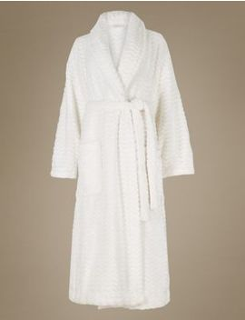 Shimmersoft™ Textured Dressing Gown by Marks & Spencer