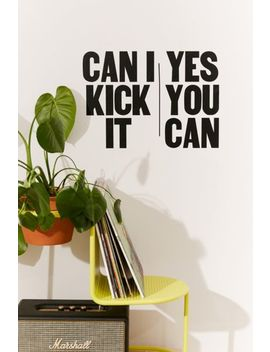 Can I Kick It Wall Decal by Urban Outfitters
