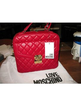 nwt--love-moschino-quilted--convertible-satchel-ruby by love-moschino
