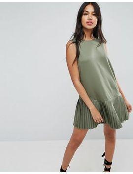 Asos Pleat Hem Mini Dress by Asos Collection