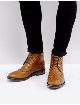 New Look Brogue Boots In Tan by New Look