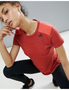 Adidas Mesh Back Prime Tee In Coral by Adidas