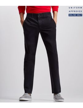 Uniform Slim Straight Flat Front Pants by Aeropostale