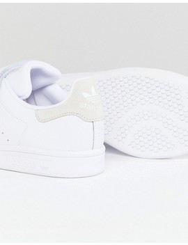 Adidas Originals Stan Smith Comfort Sneakers In White And Grey by Adidas