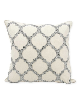 Kathy Ireland Home® By Nourison  Lattice 20 Inch Square Throw Pillow In Silver by Bed Bath And Beyond