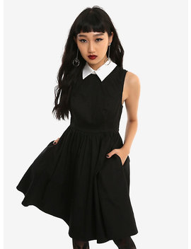 Black & White Collar Sleeveless Dress by Hot Topic