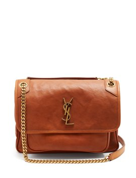 Niki Monogram Leather Cross Body Bag by Saint Laurent