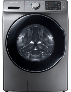 4.5 Cu. Ft. 10 Cycle High Efficiency Front Loading Washer With Steam   Platinum by Samsung