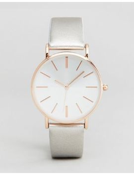 New Look Silver Split Dial Watch by New Look
