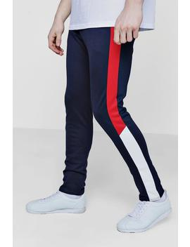 Skinny Fit Colour Block Drawcord Jogger by Boohoo