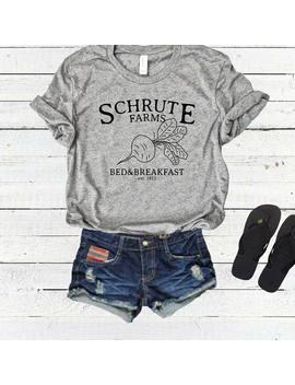 Schrute Farms Tshirt Tee Top Shirt, The Office Tshirt, Dwight Schrute, Sweater, Bears Beets Battlestar Galactica, Michael Scott, Jim Halpert by Etsy