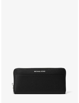 Jet Set Leather Continental Wallet by