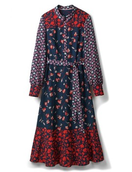Mixed Print Midi Shirtdress by Boden