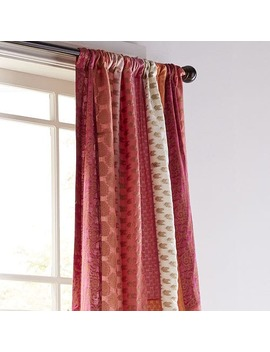"Sari Patchwork Metallic 84"" Curtain by Pier1 Imports"