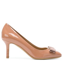 Bow Front Heeled Pumps by Salvatore Ferragamo