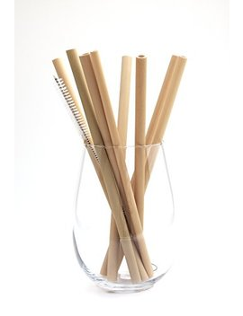 "Buluh Straws   8"" Organic Bamboo Drinking Straws 