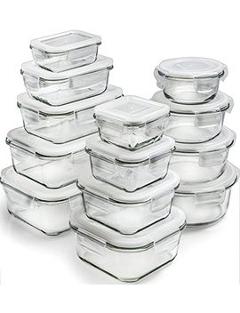 [26 Piece] Glass Storage Containers With Lids   Glass Food Storage Containers Airtight   Glass Containers With Lids   Glass Meal Prep Containers Glass Food Containers   Glass Lunch Containers by Prep Naturals
