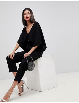 Asos Design Tall Jumpsuit With Kimono Sleeve And Peg Leg by Asos Design