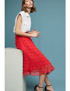 Marlow Textured Midi Skirt by Anthropologie