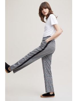 Ingrid Striped Check Trousers by Anthropologie