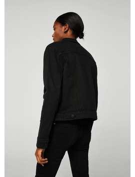 Jachetă Scurtă Denim Negru by Mango