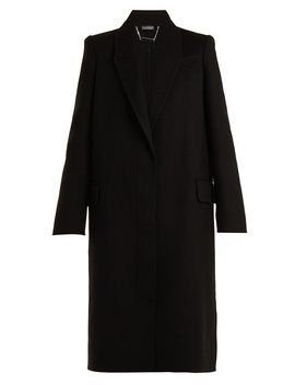 Single Breasted Wool And Cashmere Blend Coat by Alexander Mc Queen